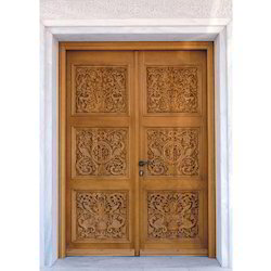 Wooden Carved Door, Size/Dimension: 7/3 And 8/4