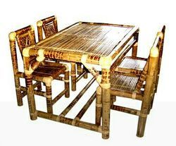 Attractive Bamboo Dining Table