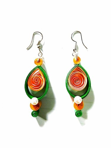a34b51269 Girls Wedding Paper Quilling Earrings, Rs 80 /unit, Laher Creation ...