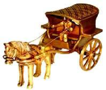 Horse Cart with Rider - Decorative Craft