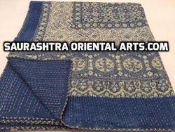 Ajrak Print Kantha Quilt
