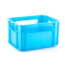 Square Geenova Plastic Light Blue Storage Crates, Capacity: 12 Bottle