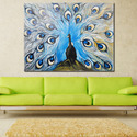 Beautiful Peocock Decorative Artwork Canvas Oil Paintings