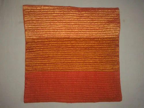 Designer Khadi Silk Lining Orange Pillows