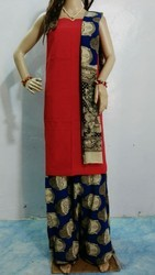 Kalamkari Cotton Unstitched Suit