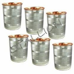 Silver Color Stallion Steel Copper Glass