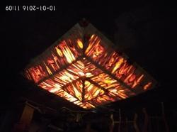 Inverted Pyramid Wooden Chandelier
