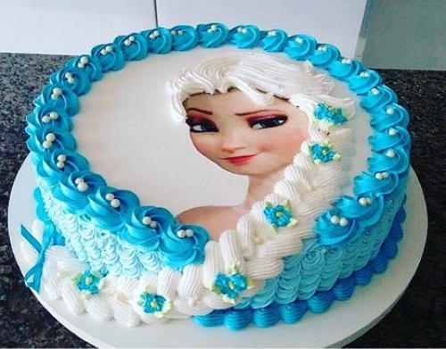 Pleasant Frozen Elsa Disney Cake Joy Delights Pure Funny Birthday Cards Online Unhofree Goldxyz