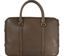 Wyatt Double Zip Stone Briefcase
