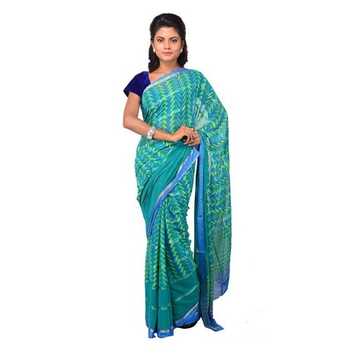 e72df84c42 Georgette Saree - Georgette Dual Border Orange Saree Wholesale Trader from  Kolkata