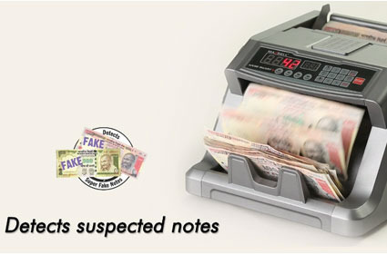 Maxsell Automatic Currency Counting Cum Fake Note Detection Machine