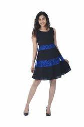 Black And Blue Ladies Dress