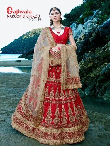 7f91cd7c93 Red Color Weddings Bridal Lehenga Choli at Rs 9990 /piece(s) | Surat ...
