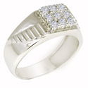 SHRI0590 Silver Men's Ring