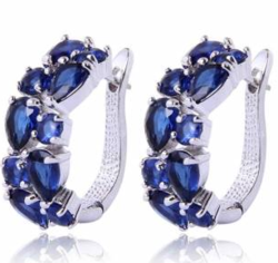 Sapphire Swiss Zircon Earrings