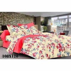 Fancy Flower Print Cotton Bed Sheet