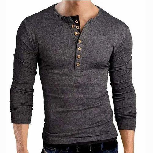 hot sales performance sportswear best shoes Men''s Henley Neck T Shirt