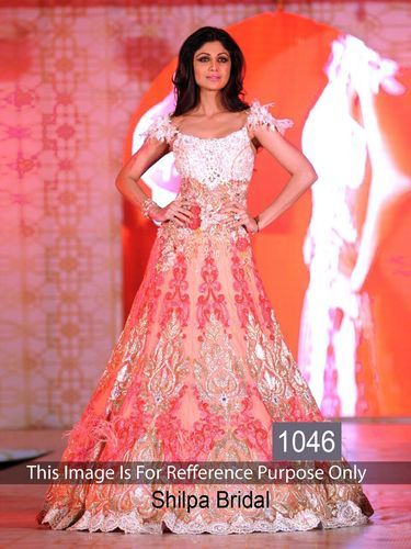 Shilpa Shetty Designer Bridal Suit ब र इडल सलव र कम ज Ethnic Export Surat Id 11347788133