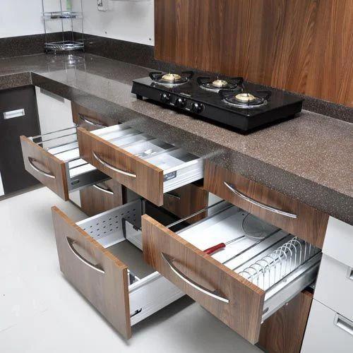 Multi Drawer Kitchen Cabinet At Rs 900 Sqft Modular Kitchen