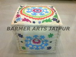 Cotton Embroidery Ottoman
