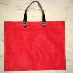 Red Dyed Jute Bag