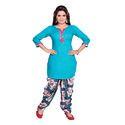 Aqua Blue Patiala Suit