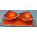 Aluminium Metal Dry Fruit Bowls with Tray