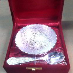 Silver Bowl With Spoon