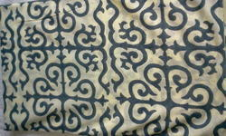 Grey Italian Design Block Printed Fabric