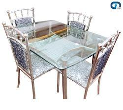 SS Dining Table Set. Specifications:   Material : Stainless Steel ...