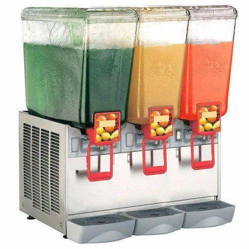 Three Jar Juice Dispenser Cold Beverage Machine At Rs