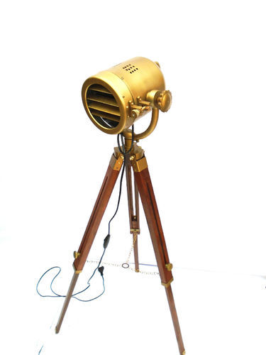 Royal Nautical Spot Light Adjustable Floor Lamp Wooden Lamp Big SpotSearch Light