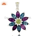 London Blue Topaz Pendant Jewelry 925 Silver Jewelry