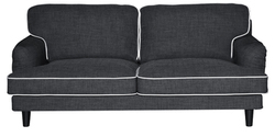 Anabel Three Seater Sofa in Ebony Grey Colour