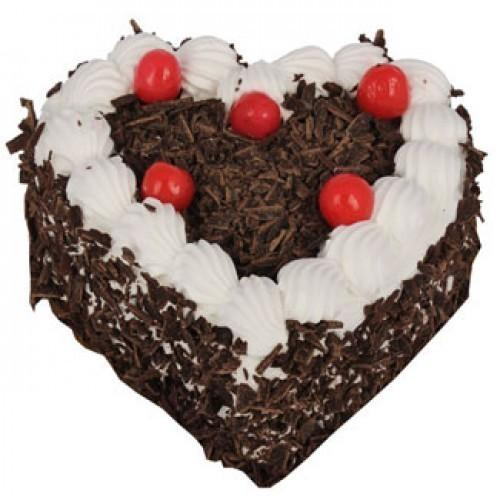 Black Forest Heart Shaped Cake 1kg