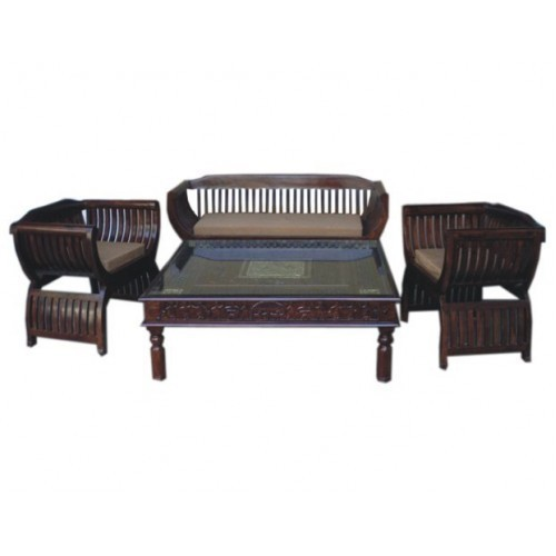 Sheesham Wood Curvy Sofa Set