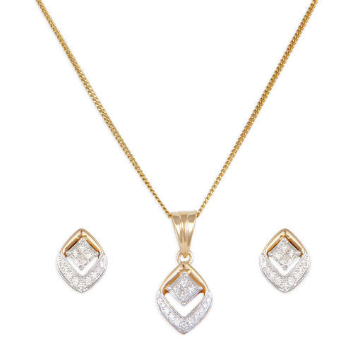 18kt diamond square pendant set at rs 48410 diamond pendant set 18kt diamond square pendant set mozeypictures Image collections