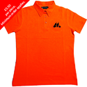 Womens Pique Polo With Self Fabric Collar And Open Cuff
