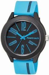 Fastrack Tees Analog Black Dial Unisex Watch