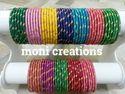 Silk Thread Dozen Bangles