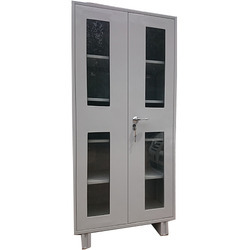 Grey Steel Office Glass Door Almirah