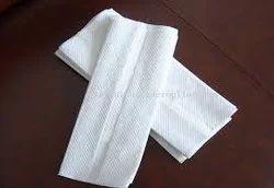 White Cotton Hand Towel, Size: 16