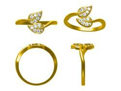 Gold Diamond Lite Weight Ring