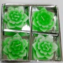 Floating Green Flower Candles DD406