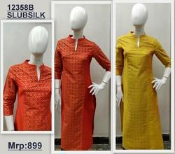 Georges Slub Silk Ladies Kurti