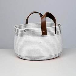 Cotton Braided Woven Basket