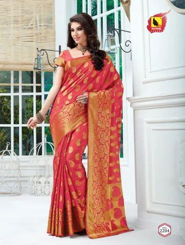 3e1175796b Chanderi Saree, डी-सेंट साड़ी फॉल्स at Rs 1200 ...