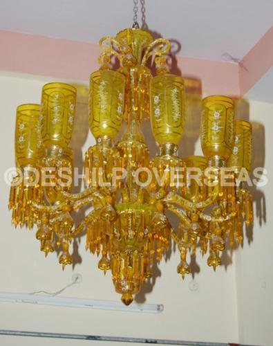 And glass contemporary yellow chandelier id 11136323233 and glass contemporary yellow chandelier aloadofball Gallery