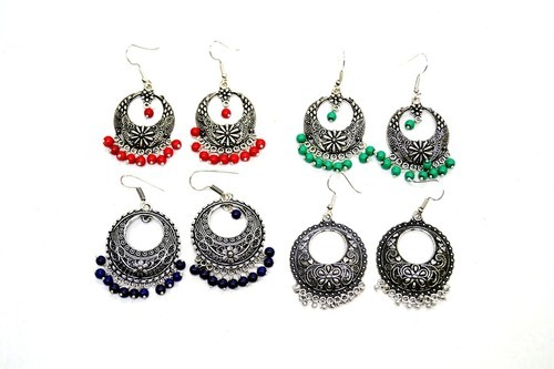 Combo Pack Of Antique Silver Plated Earrings