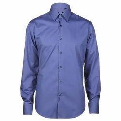 Collar Neck Cotton/Linen Men Formal Shirts, Machine Wash